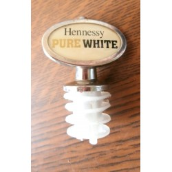 Ancien bouchon verseur publicitaire HENNESSY whisky pure white collection