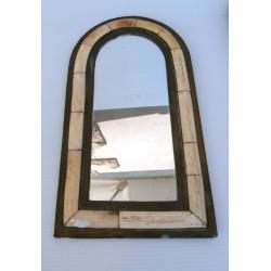Ancien miroir cuivre + matière a identifié pour collectionneur ou amateurs d'objets ancien