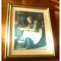 "Ancien cadre reproduction A. ANKER "" LE CHAUFFE MAIN"""