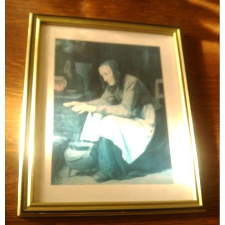 "Ancien cadre reproduction A. ANKER "" LE CHAUFFE MAIN """