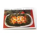 """FICHE CUISINE vintage rétro la bonne cuisine hors d'oeuvre """" brocolis tièdes aux crevettes"""""""