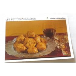 """FICHE CUISINE vintage rétro la bonne cuisine hors d'oeuvre """" les petites gougères"""""""