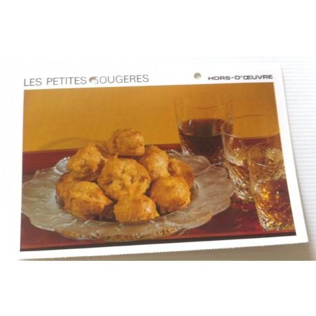 """FICHE CUISINE vintage rétro la bonne cuisine hors d'oeuvre """" les petites gougères """""""