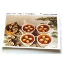 """FICHE CUISINE vintage rétro la bonne cuisine hors d'oeuvre """" œufs de caille en gelée"""""""