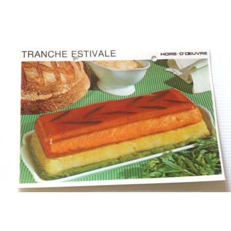 """FICHE CUISINE vintage rétro la bonne cuisine hors d'oeuvre """" tranche estivale """""""