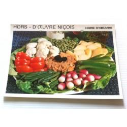 """FICHE CUISINE vintage rétro la bonne cuisine hors d'oeuvre """" hors d'oeuvre niçois"""""""