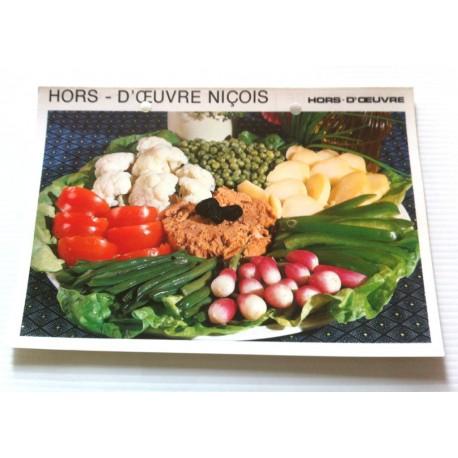 """FICHE CUISINE vintage rétro la bonne cuisine hors d'oeuvre """" hors d'oeuvre niçois """""""