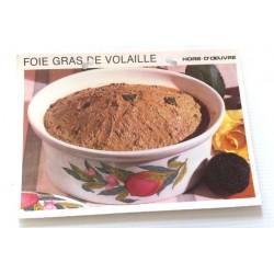 """FICHE CUISINE vintage rétro la bonne cuisine hors d'oeuvre """" foie gras de volaille"""""""