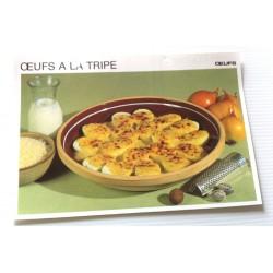 """FICHE CUISINE vintage rétro la bonne cuisine œufs """" œufs à la tripe"""""""