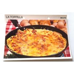 """FICHE CUISINE vintage rétro la bonne cuisine œufs """" la tortilla"""""""