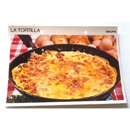 """FICHE CUISINE vintage rétro la bonne cuisine œufs """" la tortilla """""""