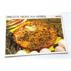 """FICHE CUISINE vintage rétro la bonne cuisine œufs """" omelette froide aux herbes"""""""