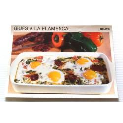 """FICHE CUISINE vintage rétro la bonne cuisine œufs """" œufs à la flamenca"""""""