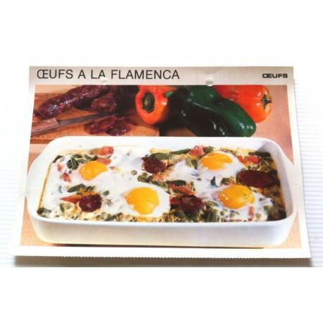 """FICHE CUISINE vintage rétro la bonne cuisine œufs """" œufs à la flamenca """""""