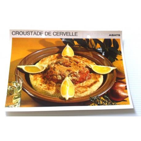 """FICHE CUISINE vintage rétro la bonne cuisine abats """" croustade de cervelle """""""