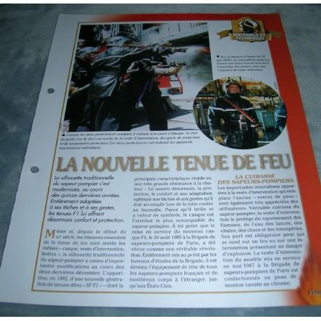 """FICHE FASCICULE POMPIERS COLLECTION """" MATÉRIELS ET INTERVENTIONS """" fiche 3"""