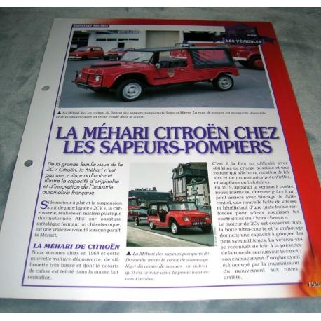 """FICHE FASCICULE POMPIERS COLLECTION """" LES VÉHICULES """" fiche 31"""