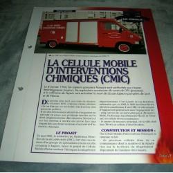 """FICHE FASCICULE POMPIERS COLLECTION """" LES VÉHICULES """" fiche 97"""