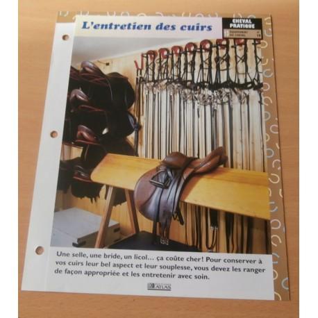 """FICHE FASCICULE """" A CHEVAL CHEVAL PRATIQUE N° 19 """" l'entretien des cuirs"""