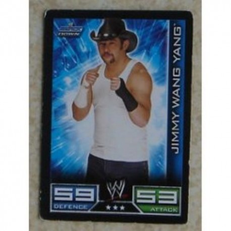 Carte à collectionner catch Wwe Slam Attax 2008 : Jimmy Wang Yang (Smackdown)