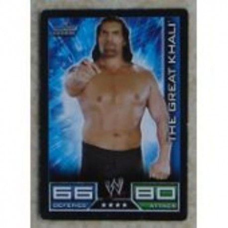 Carte à collectionner catch Wwe Slam Attax the great khali (Smackdown)