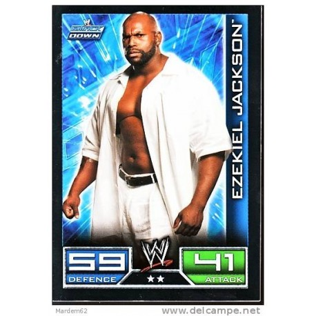 Carte à collectionner catch Wwe Slam Attax 2008 : Ezekiel Jackson (Smackdown)