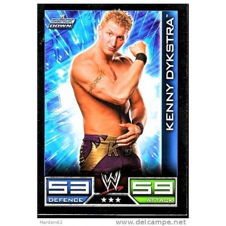 Carte à collectionner catch Wwe Slam Attax kenny dykstra (Smackdown)