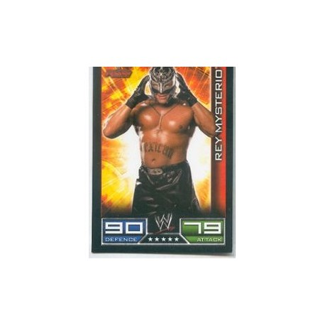 Carte à collectionner catch Wwe Slam Attax REY MYSTERIO (Smackdown)