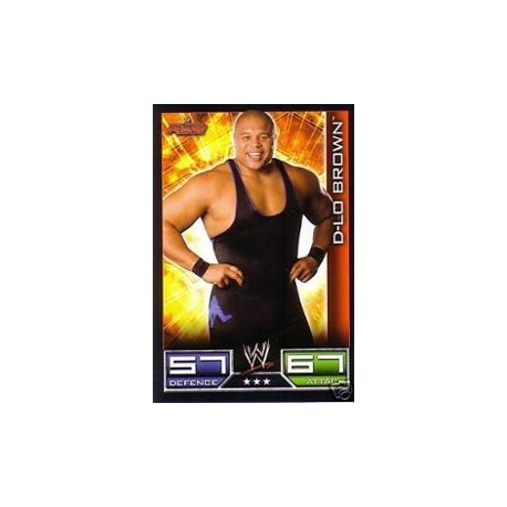 Carte à collectionner catch Wwe Slam Attax D LO BROWN (Smackdown)