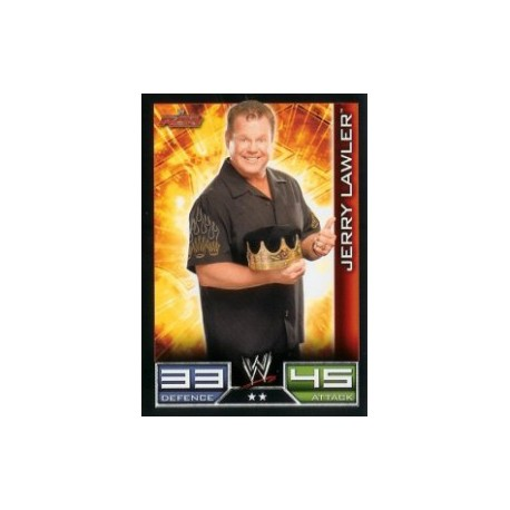 Carte à collectionner catch Wwe Slam Attax JERRY LAWLER (Smackdown)
