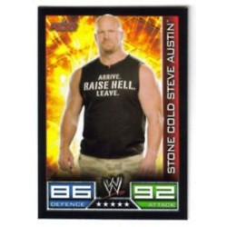 Carte à collectionner catch Wwe Slam Attax STONE COLD STEVE AUSTIN (Smackdown)
