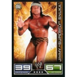 Carte à collectionner catch Wwe Slam Attax JIMMY SUPERFLY SNUKA (HALL OF FAME)