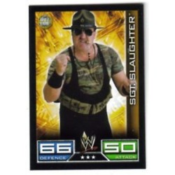 Carte à collectionner catch Wwe Slam Attax SGT SLAUGHTER (HALL OF FAME)