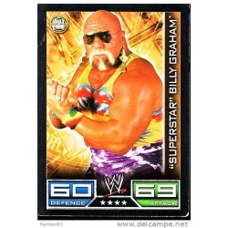 Carte à collectionner catch Wwe Slam Attax SUPERSTAR BILLY GRAHAM (HALL OF FAME)