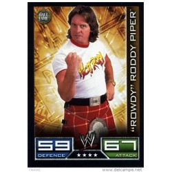 Carte à collectionner catch Wwe Slam Attax ROWDY RODDY PIPER (HALL OF FAME)