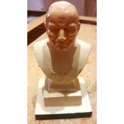 Ancienne statuette plâtre reproduction jean Paul 2 signé A. peolon?