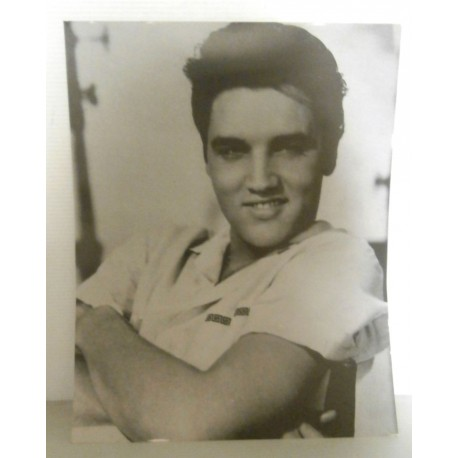 Poster cartonné déco star Elvis Priesley 30 x 24 cm