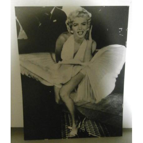 Poster cartonné déco star 30 x 24 cm Marylin Monroe