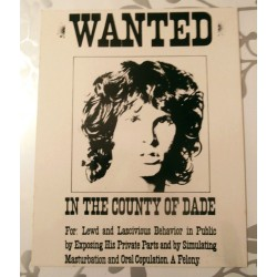 Poster cartonné déco star 30 x 24 cm Jim Morrison COLLECTION