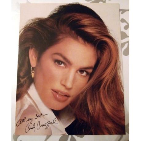 Poster cartonné déco star 30 x 24 cm Cindy Crawford 02
