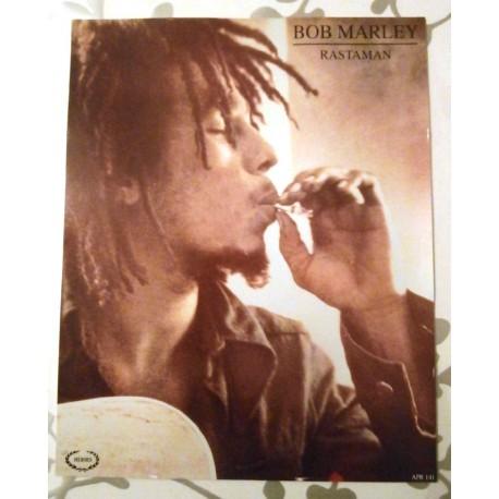 Poster cartonné déco star 30 x 24 cm rastaman Bob Marley