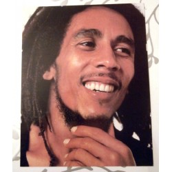 Poster cartonné déco star 30 x 24 cm rastaman Bob Marley 02 COLLECTION