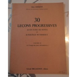 Partitions 30 Leçons Progressives De Lecture De Notes Et De Solfège Rythmique Vol.3 À L'Usage Des Cours Élémentaires Grimoin