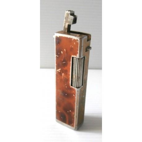 Collection ! Ancien briquet collection déco métal marron rechargeable
