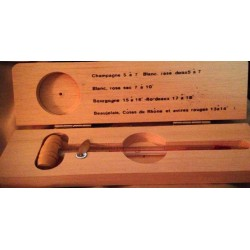 Thermomètre à Vins champagnes dans coffret bois
