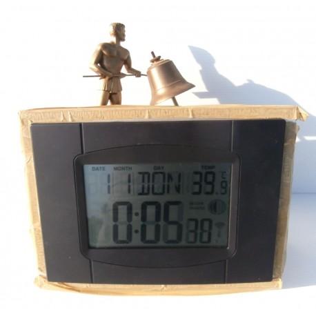 Ancienne horloge refaite a piles pièces en bronze avec mécanisme d'origine