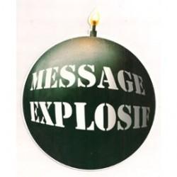 Carte postale NEUVE - message explosif