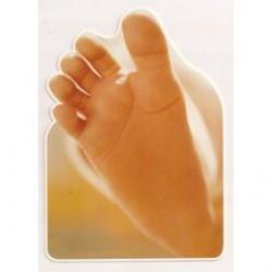 Carte postale NEUVE - pieds bébé anniversaire fêtes en tout genre neuve