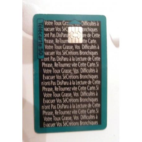 Ancienne carte téléphonique télécarte collection 50 unités broncoclar