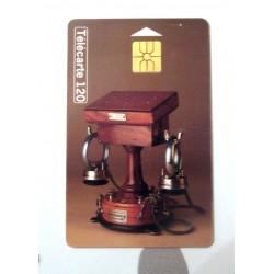Ancienne carte téléphonique télécarte collection 120 unités collection historique téléphone Ader 1880
